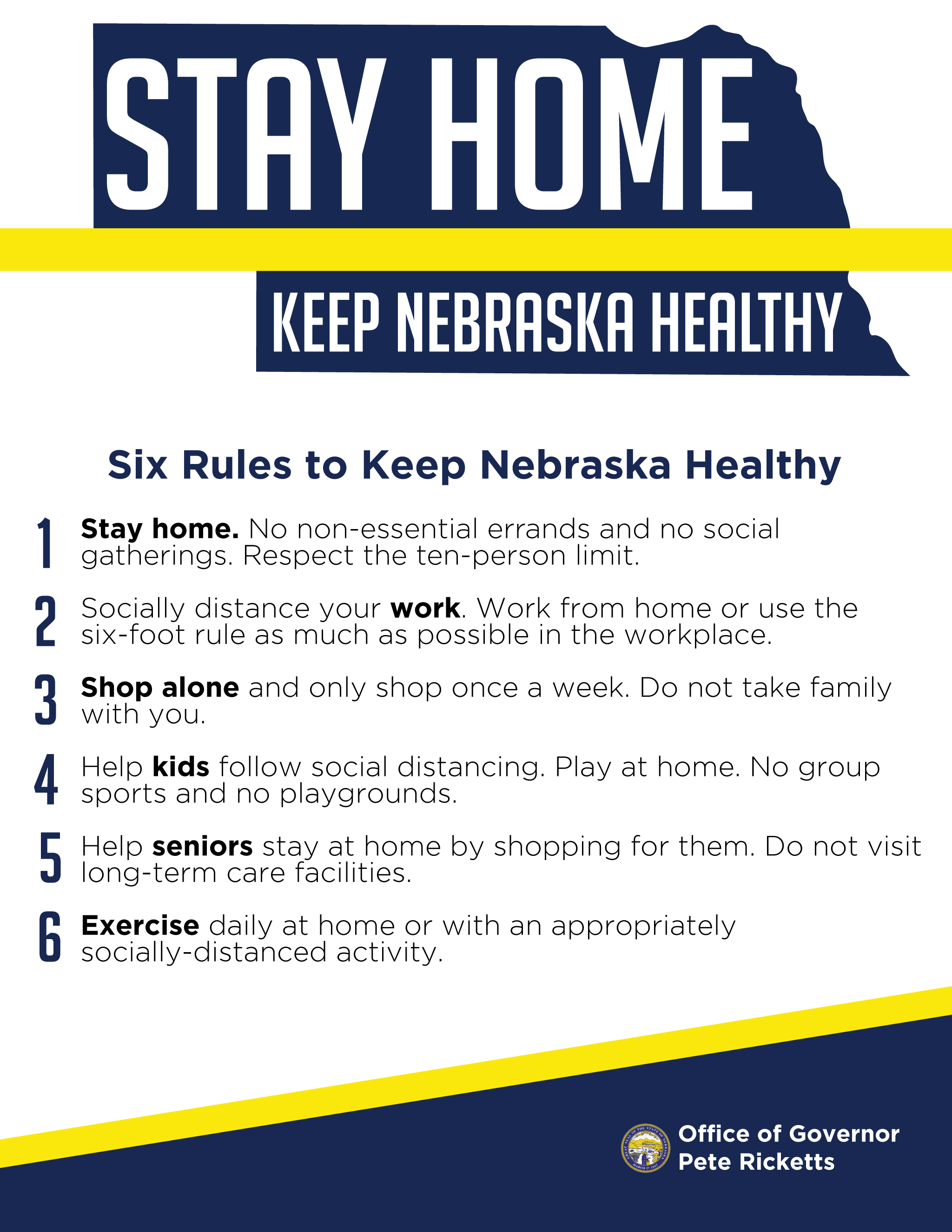 NE Stay at Home Proclamation